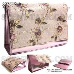 Shiseido wink pink cosmetic bag