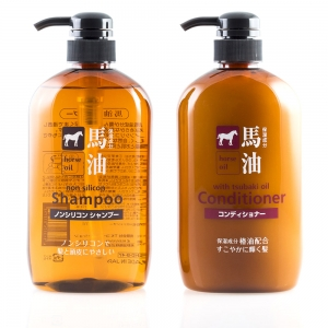 Value Set ชุดดูแลผมน้ำมันม้า Horse Oil Shampoo & Conditioner 600mlx2pcs [Free shipping]