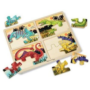 4-in-1 Jigsaw Puzzles Dinosaur จาก Melissa and doug