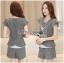 Lady Grace Smart Casual Check Printed Blouse and Shorts Set L200-79C06 thumbnail 1