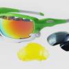 แว่นตาปั่นจักรยาน Jawbone เขียวขาว