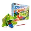 BO020 Dino dinner เกมส์บอร์ด เสริมพัฒนาการ เกมส์เกี่ยวของออกจากปาก ไดโนเสาร์