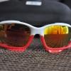 แว่นตาปั่นจักรยาน Oakley Jawbone ขาว-แดง