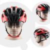 หมวกกันน๊อค จักรยาน Cigna มีแว่นในตัว เปลี่ยนเลนส์ได้ สีดำแดง