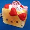 C906 สกุชี่ Hello Kitty Ice Cream Bread Pink (SOFT) ลิขสิทธิ์ แท้ญี่ปุ่น ขนาด 5.5 cm