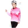 ชุดปั่นจักรยานผู้หญิง สีชมพู ขนาด L