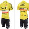 ชุดปั่นจักรยาน Audi 2015 เสื้อปั่นจักรยาน และ กางเกงปั่นจักรยาน