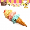 C821 Sammy the Patissier Ice Cream Squishy Mascot Ball Chain ( SOFT) 12 cm ลิขสิทธิ์แท้