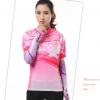 ชุดปั่นจักรยานผู้หญิง สีชมพู ขนาด S เสื้อสั้น กางเกง 3 ส่วน
