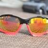 แว่นตาปั่นจักรยาน Oakley Jawbone ดำ-แดง