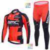 ชุดปั่นจักรยาน แขนยาว พร้อม กางเกงจักรยาน BMC ขนาด S