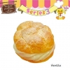 C819 Sammy the Patissier Choux Cream Squishy Mascot Ball Chain (VANILLA) ( SOFT) 6 cm ลิขสิทธิ์แท้