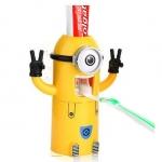 Z063 ที่กดยาสีฟัน Minion Toothpaste Dispenser เวอร์ชั่น Kevin เป็นที่กดยาสีฟันระบบสูญากาศ พร้อมที่แขวนแปรง และ แก้วน้ำ