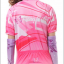 ชุดปั่นจักรยานผู้หญิง สีชมพู เสื้อสั้น กางเกง 3 ส่วน thumbnail 3
