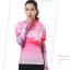 ชุดปั่นจักรยานผู้หญิง สีชมพู เสื้อสั้น กางเกง 3 ส่วน thumbnail 1