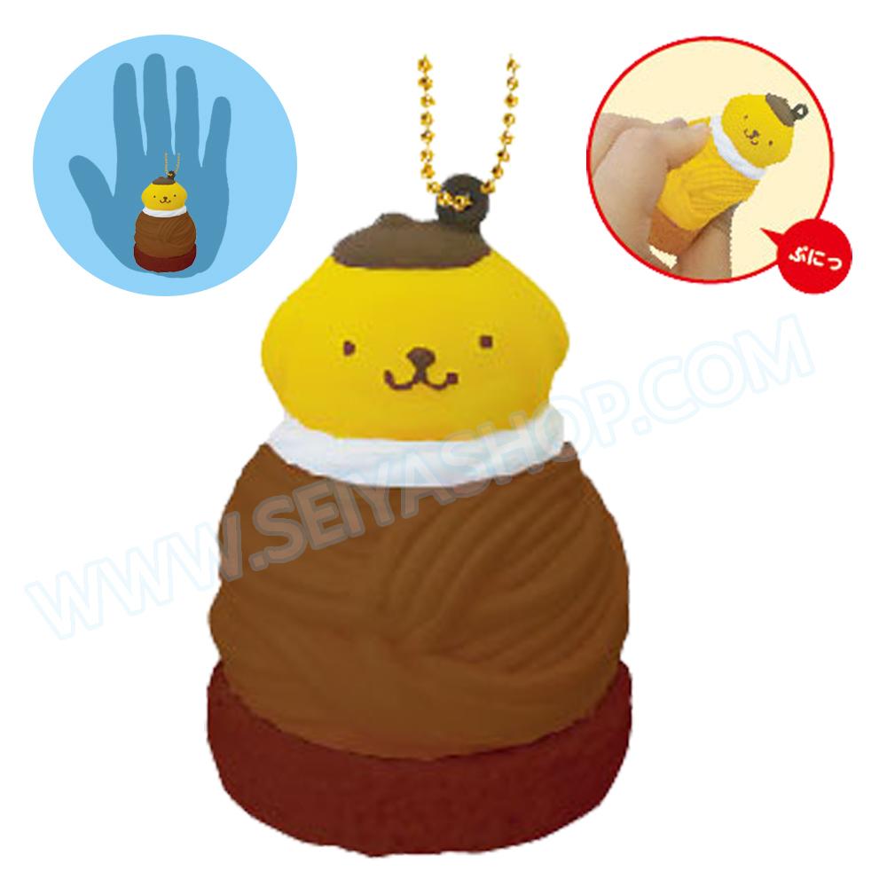 CA808 สกุชชี่ Pompompurin Cafe ช๊อคโกแล๊คขนาด 7cm (Soft) ลิขสิทธิ์แท้