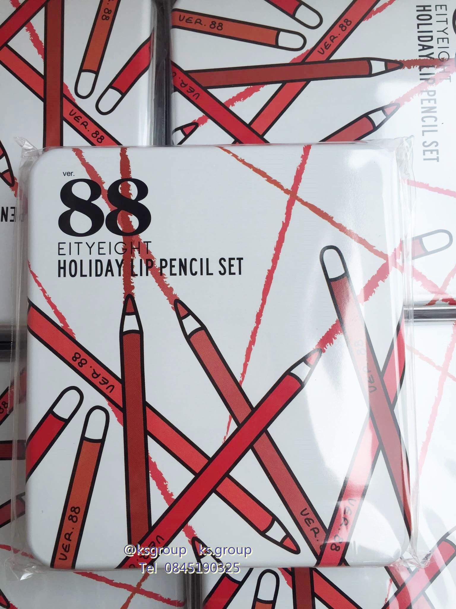 Ver 88 Eity Eight Holiday Lip Pencil Set Eighty 1