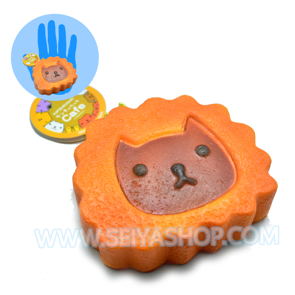 CA727 สกุชชี่ kapibarasan สีน้ำตาล (soft) ขนาด9cm-