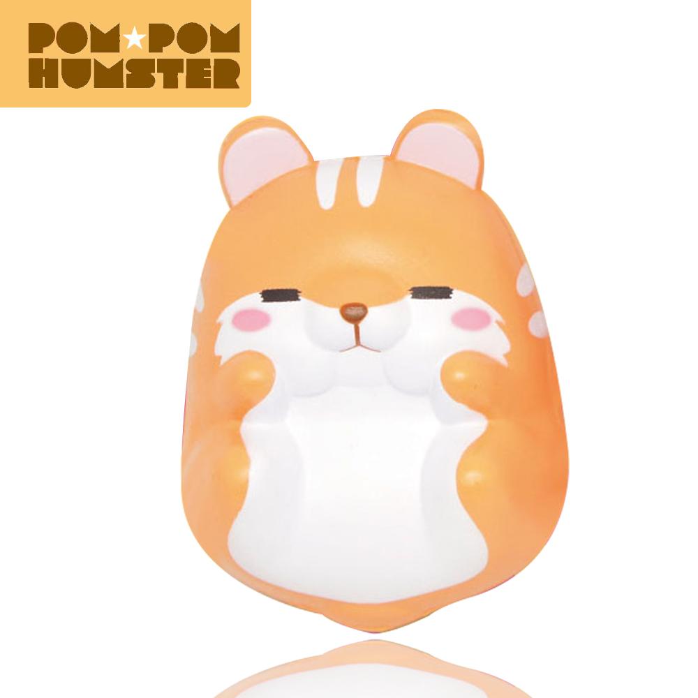 I097สกุชชี่ pompom hamster สีส้ม หลับตา ขนาด 7 cm.