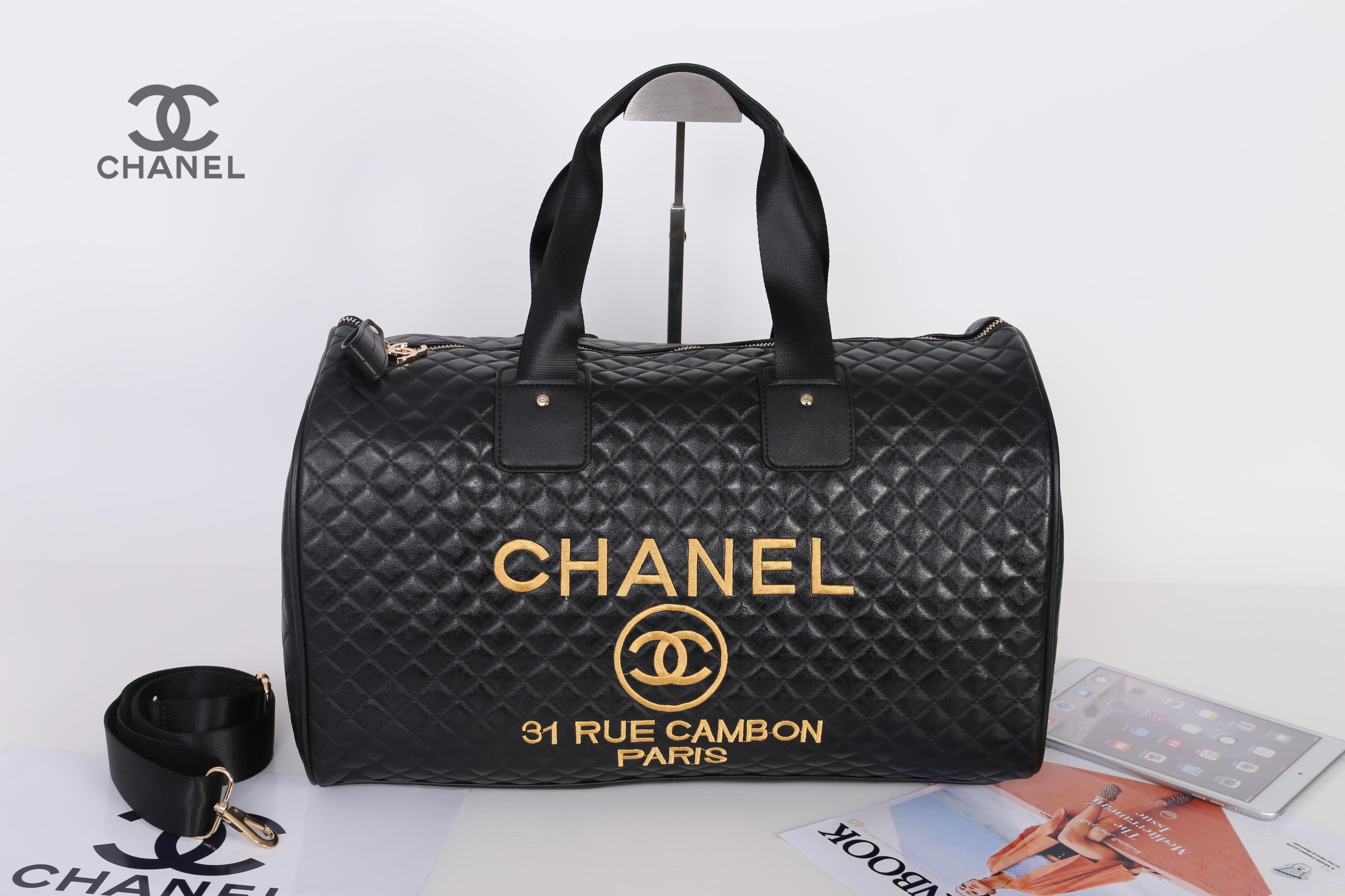 35388494f41b Chanel VIP Precision gift Black Travel Duffle/Gym Bag - make happy ...