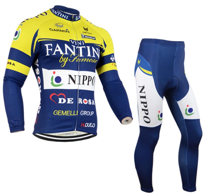 ชุดปั่นจักรยาน แขนยาว กันหนาว Fantini ผ้าหนา ลดราคา